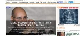 Intervju med italienske L'Indro om artikkel som er republisert over hele verden: Kan Saif al-Islam Gaddafi løse Libya krisen