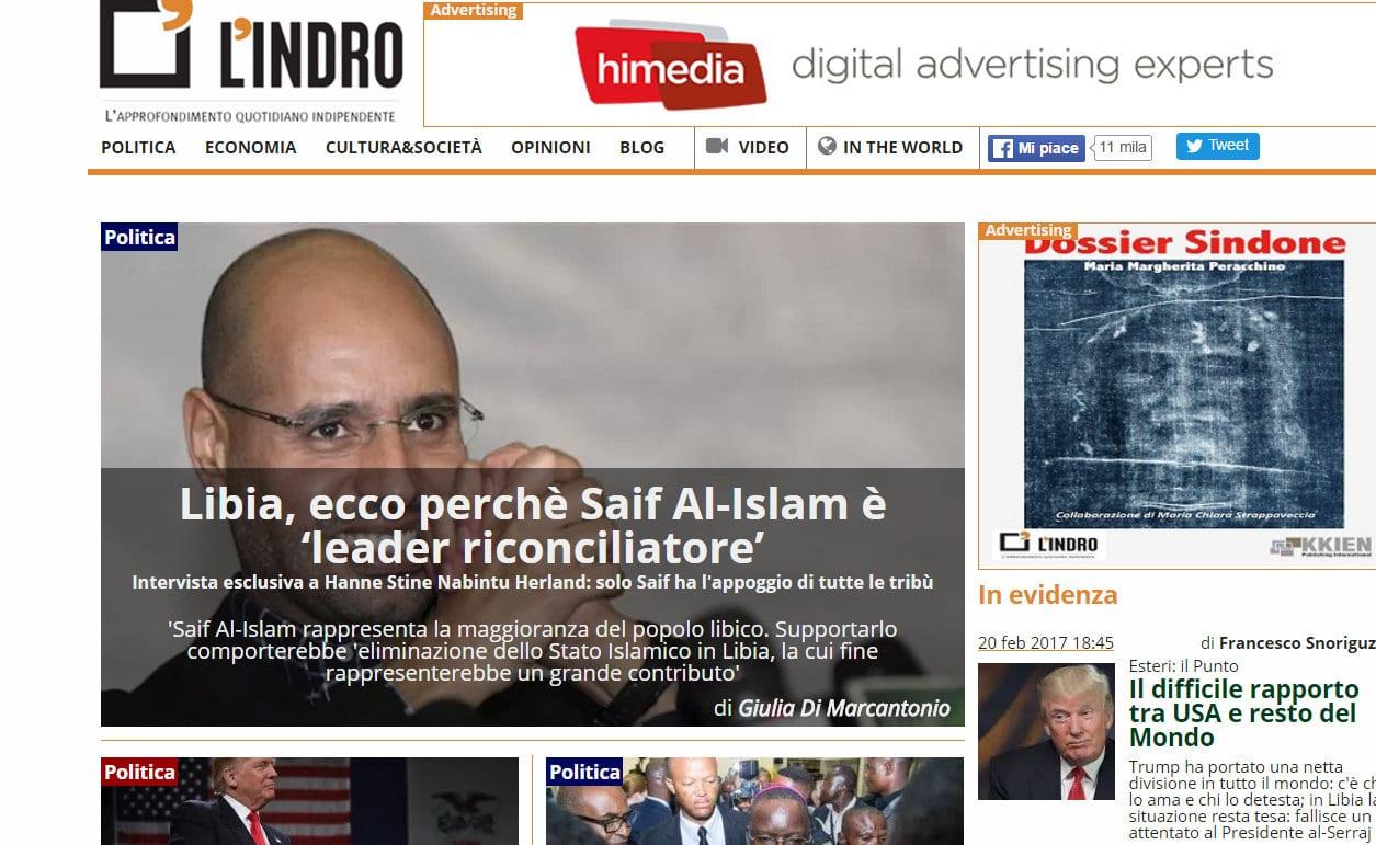 L'Indro interview with hanne Nabintu Herland, saif al Islam