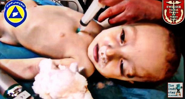 Swedish Doctors for Human Rights say White Helmet video show murdered children for fake chemical gas attack in Syria village