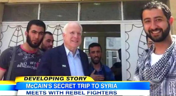 McCain with Syrian rebels