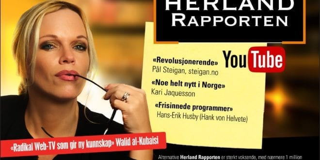 Gledelig for Herland Rapporten Youtube: 500 000 views på under to måneder