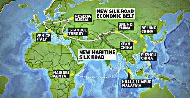Chinas New Silk Road Through Syria Provokes The US The Sanctions - Us new silk road map
