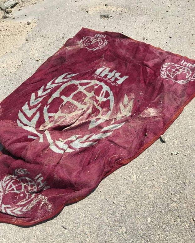 Eva Thomassen, Syria: Turkish NGO flag found amid rebel weapons