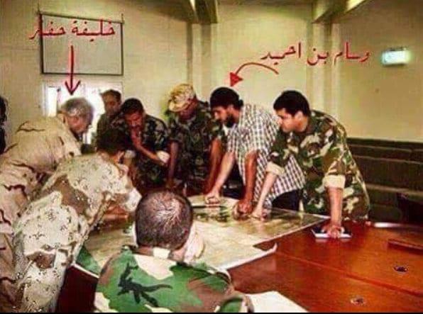 Gen Khalifa Haftar allegedly together with known Libyan Islamist leader.