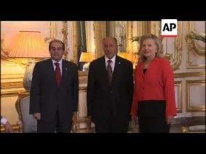 Hillary Clinton, Jalil, Mahmoud Libya 2011