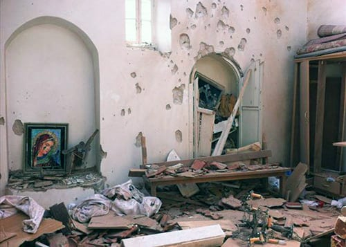 Syrian church destroyed, Damascus.
