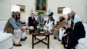 Afghanistan marks Total Failure: Taliban leaders with Roland Reagan, 1983.