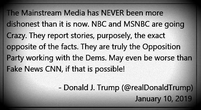 Mainstream media Donald Trump quote