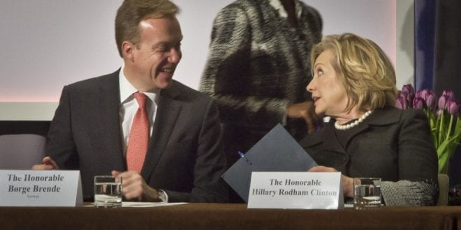 Pay for Play Clinton Foundation: Børge Brende AP Herland Report
