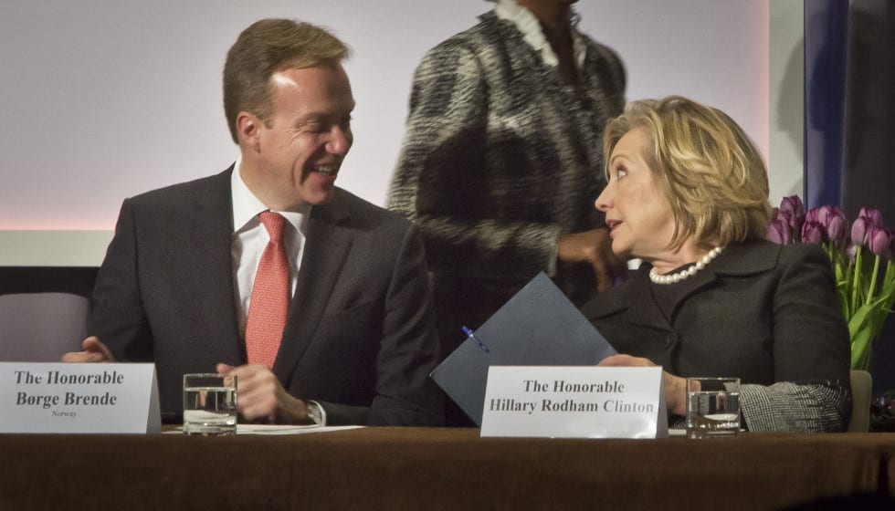 Notorious liar Hillary Clinton manipulate Norway Labor Party to access funds? Hillary Clinton and the Clinton Foundation Borge Brende AP