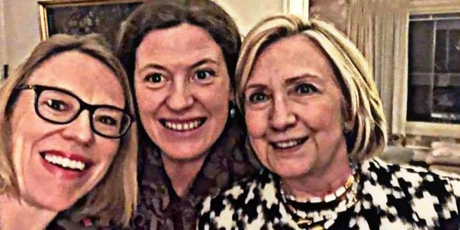Notorious liar Hillary Clinton manipulate Norway Labor Party to access funds? Hillary-CLinton-Norway-huitfeldt-clinton-sisterhood Herland Report