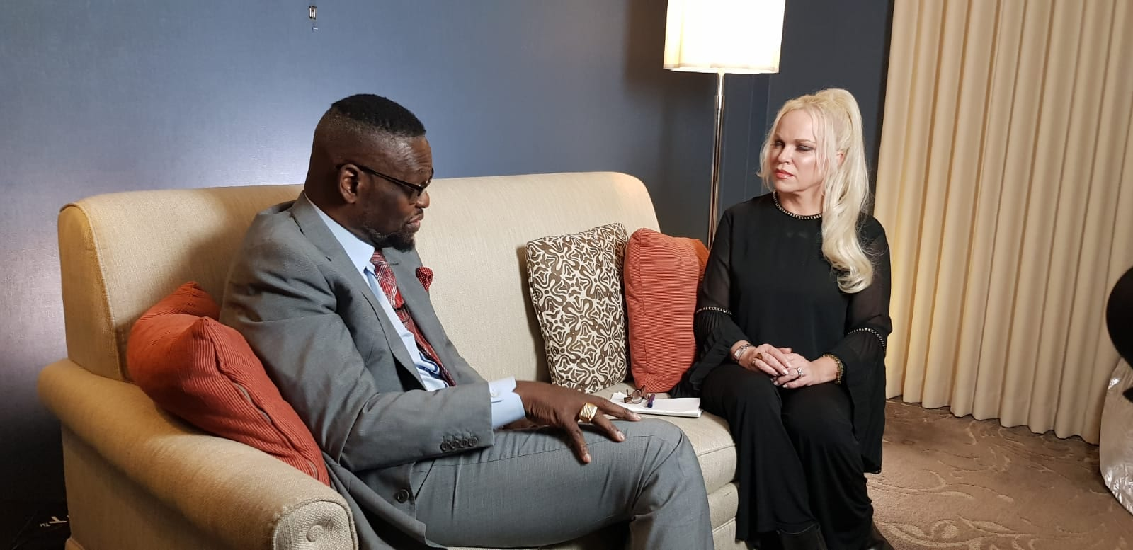 Bishop Harry Jackson and Hanne Nabintu Herland Washington DC, 2019