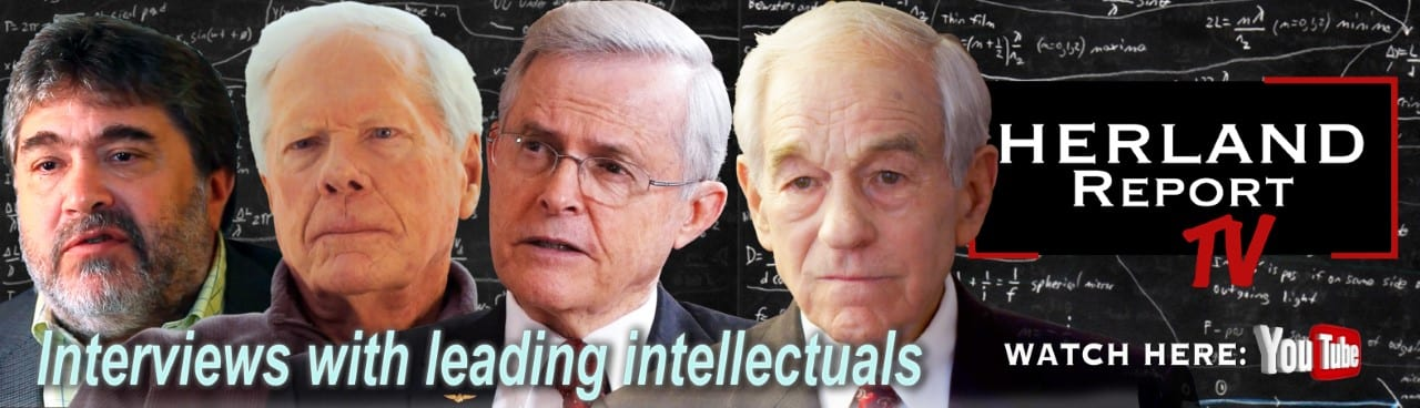 Herland Report lying down banner Ron Paul, Roberts, Medved, Senator Richard Black
