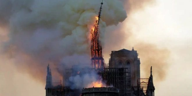 Notre dame arson vandalism attack christianity burning getty herland report