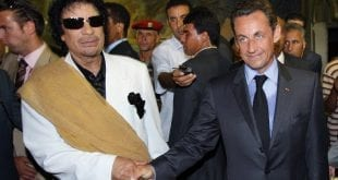 Media lies about Libya: Gaddafi Sarkozy AFP Herland Report Media lies about Libya War