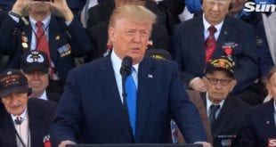 Donald Trump DDay UK 2019 the Sun