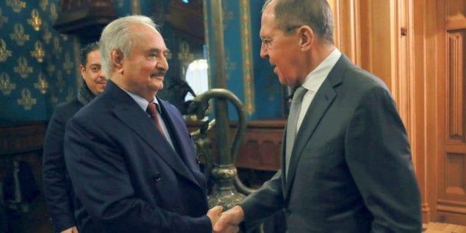 Haftar LNA Lavrov Moscow Russia Libya