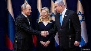 Putin Netanyahu sara netanyahu World Holocaust Forum 2010 Reuters
