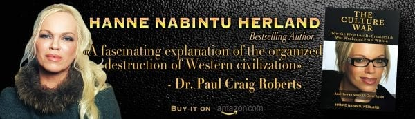 The Culture War. How the West lost its greatness. Hanne Nabintu Herland banner