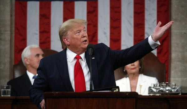 Trump State of the Union:  DailyNewsMax-donald-Trump-state-of-the-union-pelosi