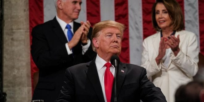 Will we see a Military Coup in the US? Trump and the Military Complex. President-Donald-Trump-2019-State-of-the-Union-address-UPI-pelosi