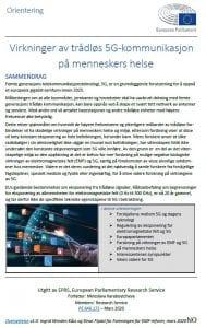 5G og helseskader: EU byråkratiet bekrefter voksende uro: EU byråkratenes rapport. Herland Report Einar Flydal