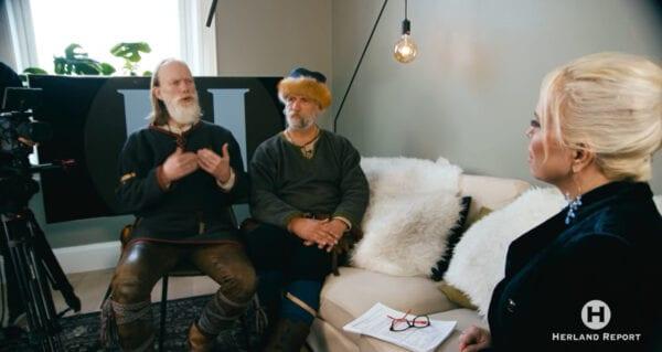 Eksklusivt intervju med Saga illustratør viking, Anders Kvåle Rue fra Olavs Menn, Øystein Rivrud, Hanne Nabintu Herland Report