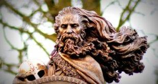 Viking Norse king of Norway, Harald Fairhair Hårfagre (850 - 933 AD) Scandinavia, Haugesund, Herland Report