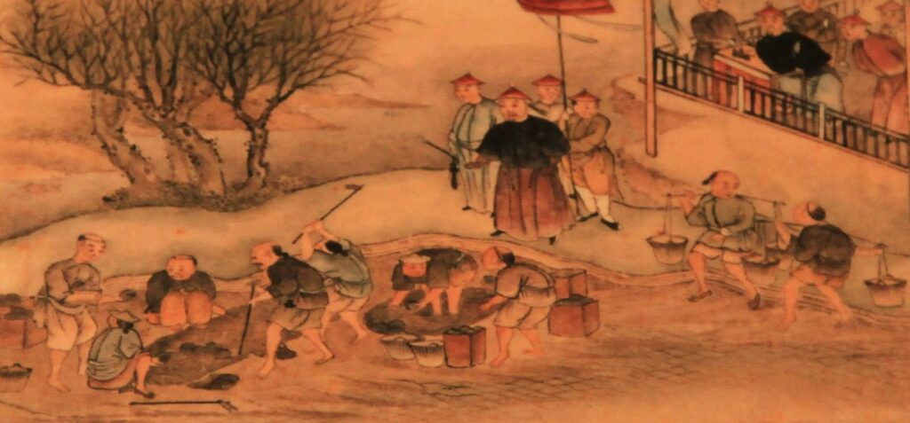 The Humiliation of China: Commissioner Lin and the Destruction of the Opium in 1839.