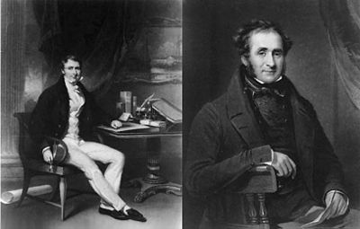 The Humiliation of China: Left: William Jardine. Right: James Matheson.
