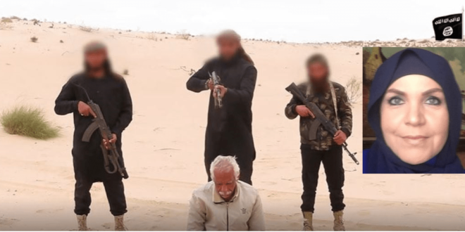 Islamist demonization of Middle East Christians: Nabil H. Salama Executed by jihadists on the accusation that he was acting like a jihadist (Ayat Oraby, right)
