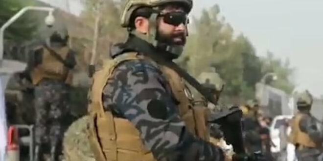 Afghanistan drug trade: Taliban soldier, Kabul, 2021 Daily Mail